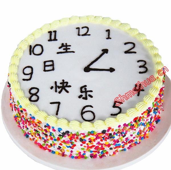 时钟生日蛋糕